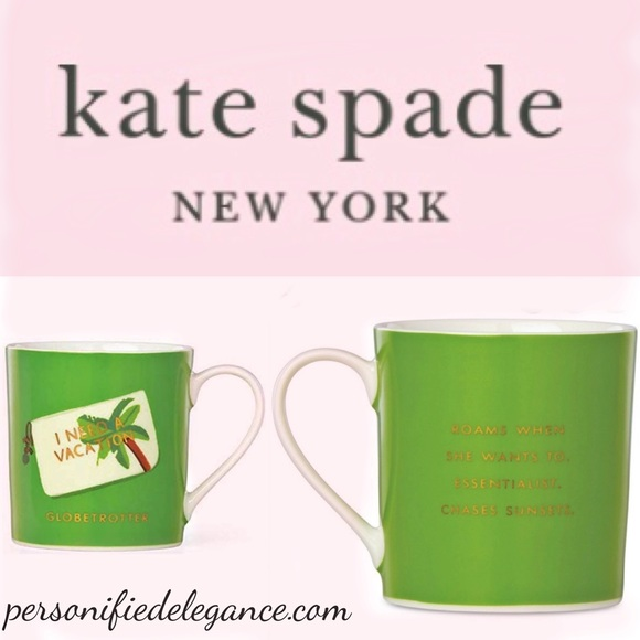 Kate Spade I Need A Vacation 12oz Mug